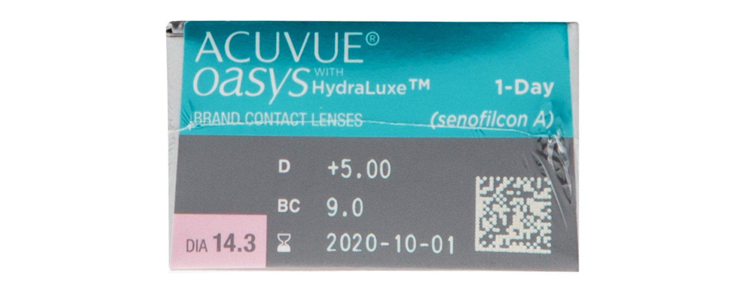 Oasys 1-Day with Hydraluxe Technology contact lenses