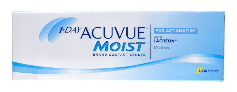 Acuvue Moist for Astigmatism contact lenses